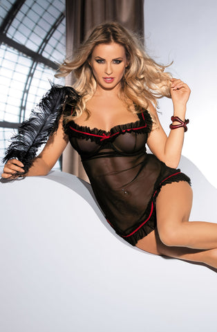 Avanua Lola Frill Chemise Set - The Pantie Purse