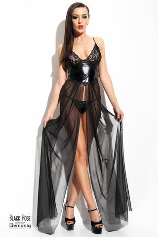 Demoniq Black Rose Anastasia Sheer Dress