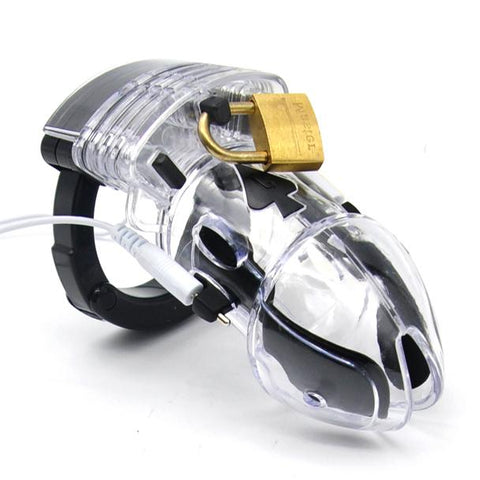 Electro Stimulation Male Chastity Kit - The Pantie Purse