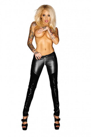 Noir Handmade Black Wet Look & PVC Trousers - The Pantie Purse