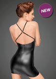 Noir Handmade Decadence Cross Back Peekaboo Dress