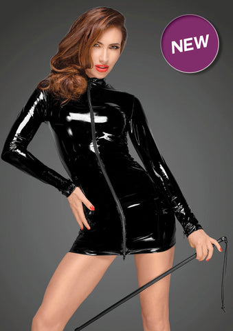 Noir Handmade Decadence PVC 2 way Zip Dress