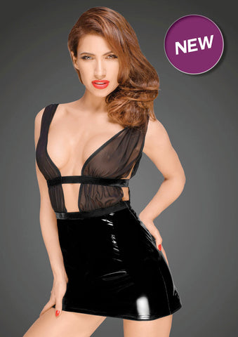 Noir Handmade Decadence PVC Skirt Dress
