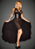 Noir Handmade Hi Lo Lace Halterneck Dress