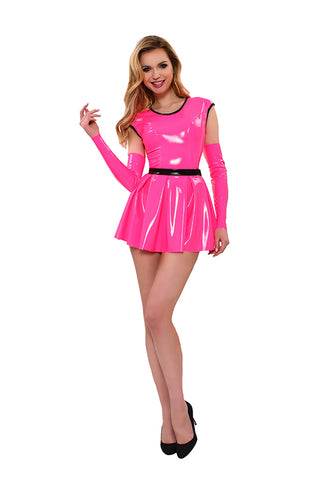 GP Datex Pink Skater Dress and Sleeves - The Pantie Purse
