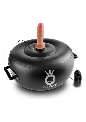 KING COCK VIBRATING INFLATABLE HOT SEAT - The Pantie Purse