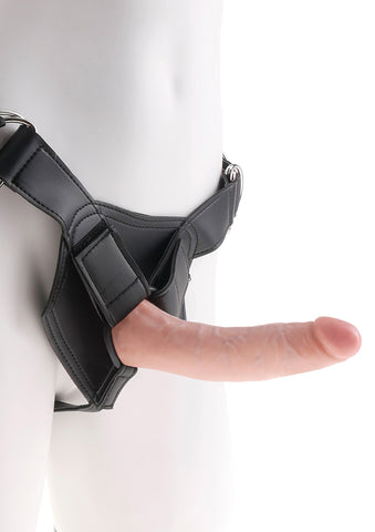 King Cock Strap On Harness with 7 Inch Cock - The Pantie Purse
