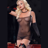 Leg Avenue Sensual Sheer Black Babydoll Set - The Pantie Purse