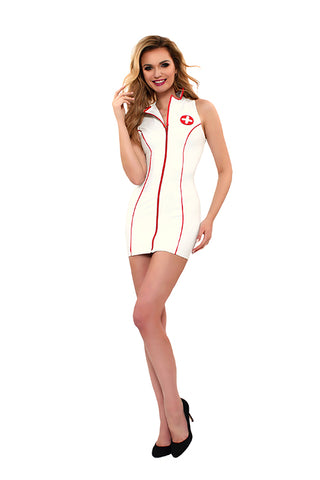 Guilty Pleasure GP White Datex Nurse Costume - The Pantie Purse