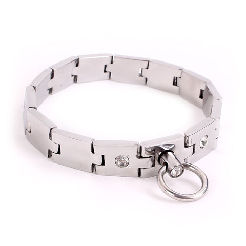 Handmade Metal Jewelled Lockable Collar