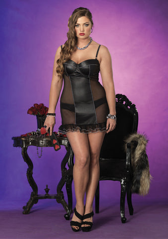Leg Avenue Plus Size Padded Chemise and Panty Set - The Pantie Purse