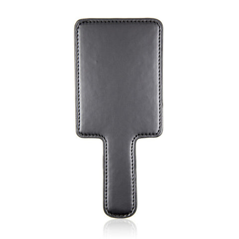 PU Square Black Spanking Paddle - The Pantie Purse