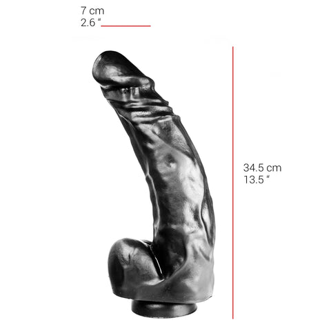 515 Big Black 13 Inch Dildo With Suction Cup