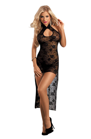 YesX Black Lace Hi Lo Dress