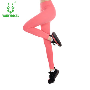 Women Sexy Yoga Pants High Waist Stretchy Dry Fit Sports Leggings Gym Workout Fitness Running Tights Sportwear Female Trousers - ms-leggings