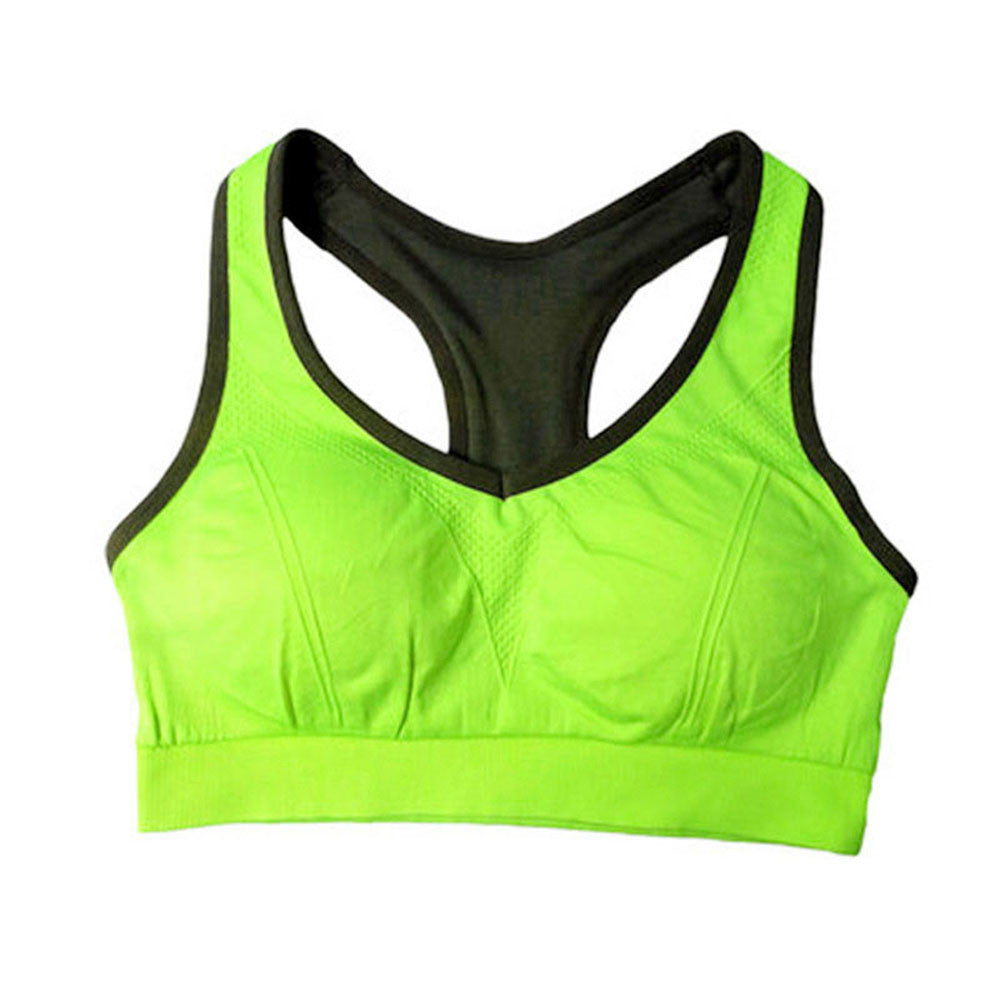 New Women Sports Bra Push Up Shockproof Vest Tops with Padding for Running Gym Fitness Jogging Yoga Shirt #E0 - ms-leggings