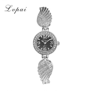 LVPAI Crystal Bracelet Watches Women Fashion Watch 2017 Gift Stainless Steel 4 Colors Luxury Quartz Watch for Woman Relogio - ms-leggings
