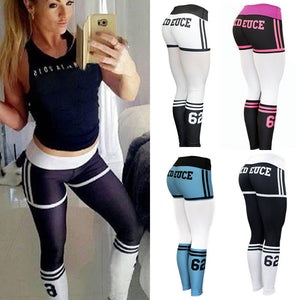 Women Hight Waist Yoga Fitness Leggings Running Gym Stretch Sports Pants Trouser - ms-leggings