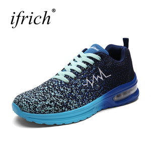 Couples Spring Summer Couples Popular Sneakers Mesh Unisex Shoe Training Blue Green Air Cushion Sport Shoe Men and Women - ms-leggings