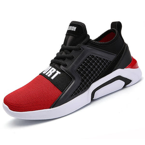 Men Running Shoes Air Mesh Cushion Sneakers Breathable Women Outdoor Jogging Shoes Athletic Walking Training Lace-up Zapatillas - ms-leggings