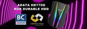 ADATA HD770G RGB External Hard Drive wins D&I Award at Computex 2019