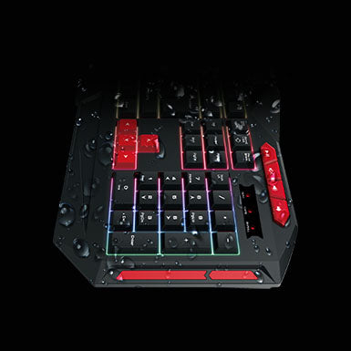 Gamdias ARES M2 Gaming Keyboard Zeus E2 Optical Gaming Mouse and MousePad Combo