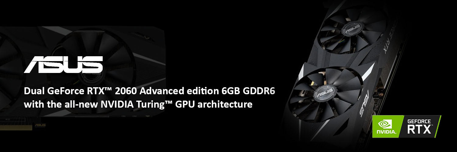 ASUS Dual RTX 2060 Advanced 6G VR Ready Gaming Graphics Card