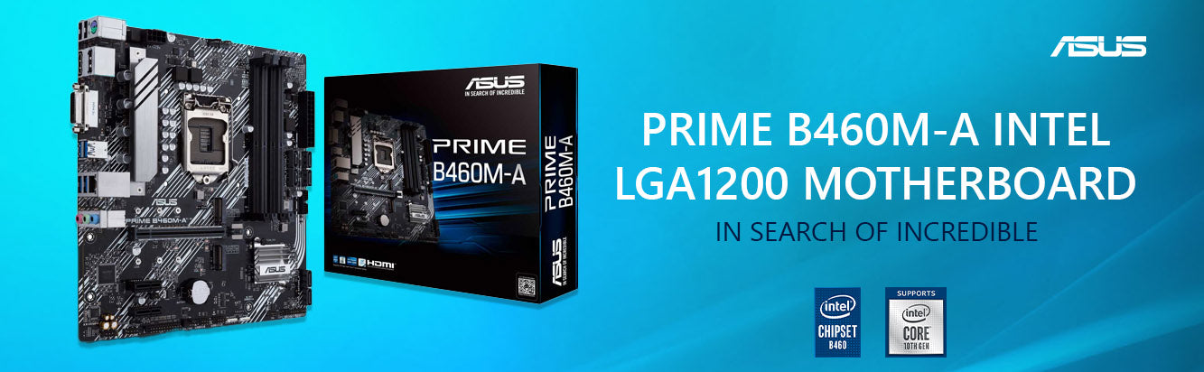 ASUS Prime B460M-A LGA 1200 Micro-ATX Motherboard with Dual M.2 and Fa – TPS Technologies