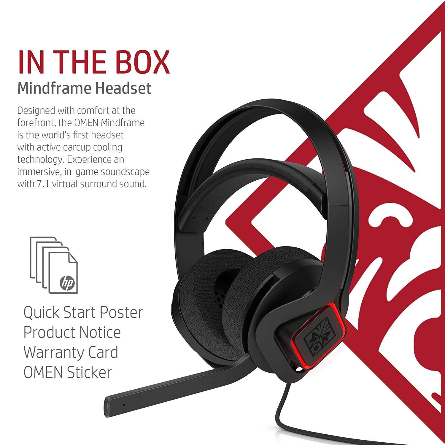 Omen X by HP Mindframe Headset (3XT27AA) with Cooling