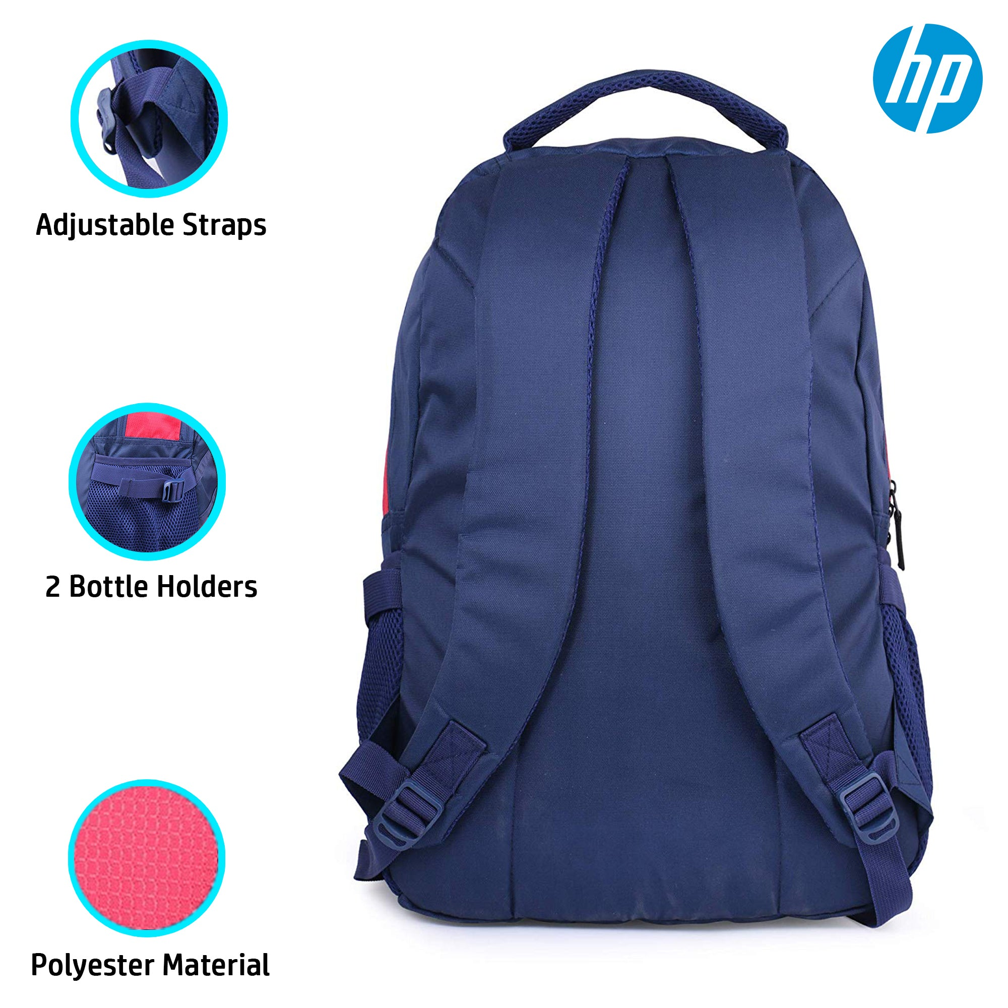 HP 15.6 Inch Crystal Laptop Backpack (Red, 4ZG30PA)