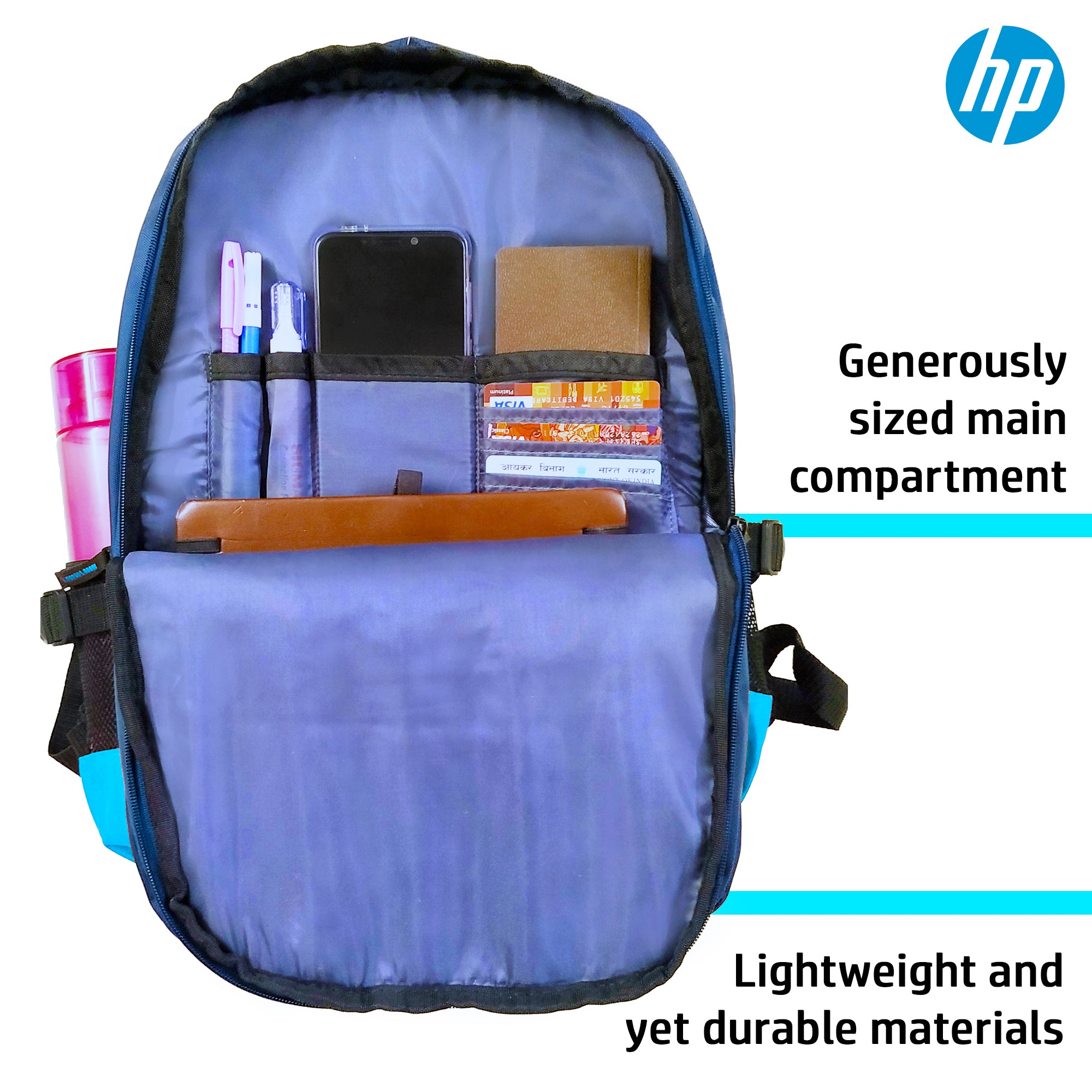 HP 15.6 Inch Diamond Laptop Backpack (Green, 4ZG31PA)