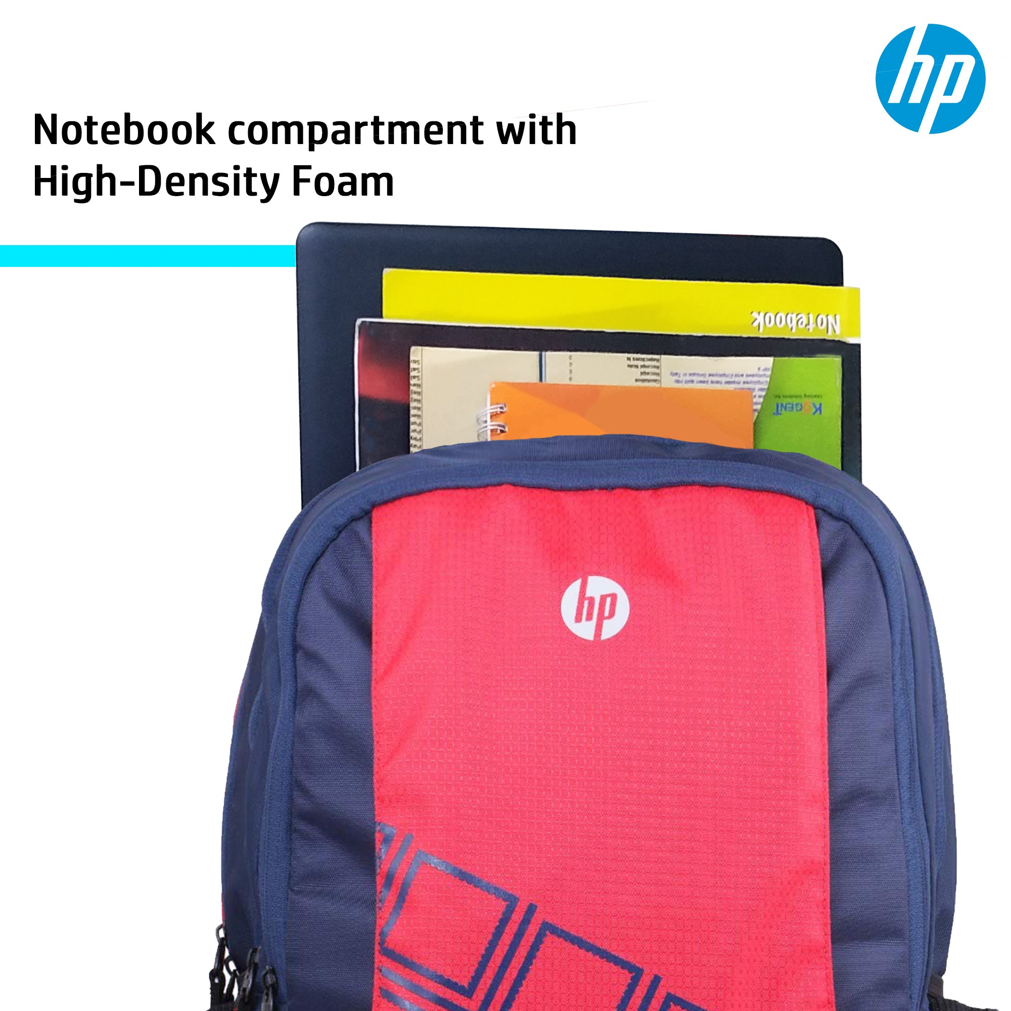 HP 15.6 Inch Diamond Backpack with Raincoat (Red, 4ZG33PA)