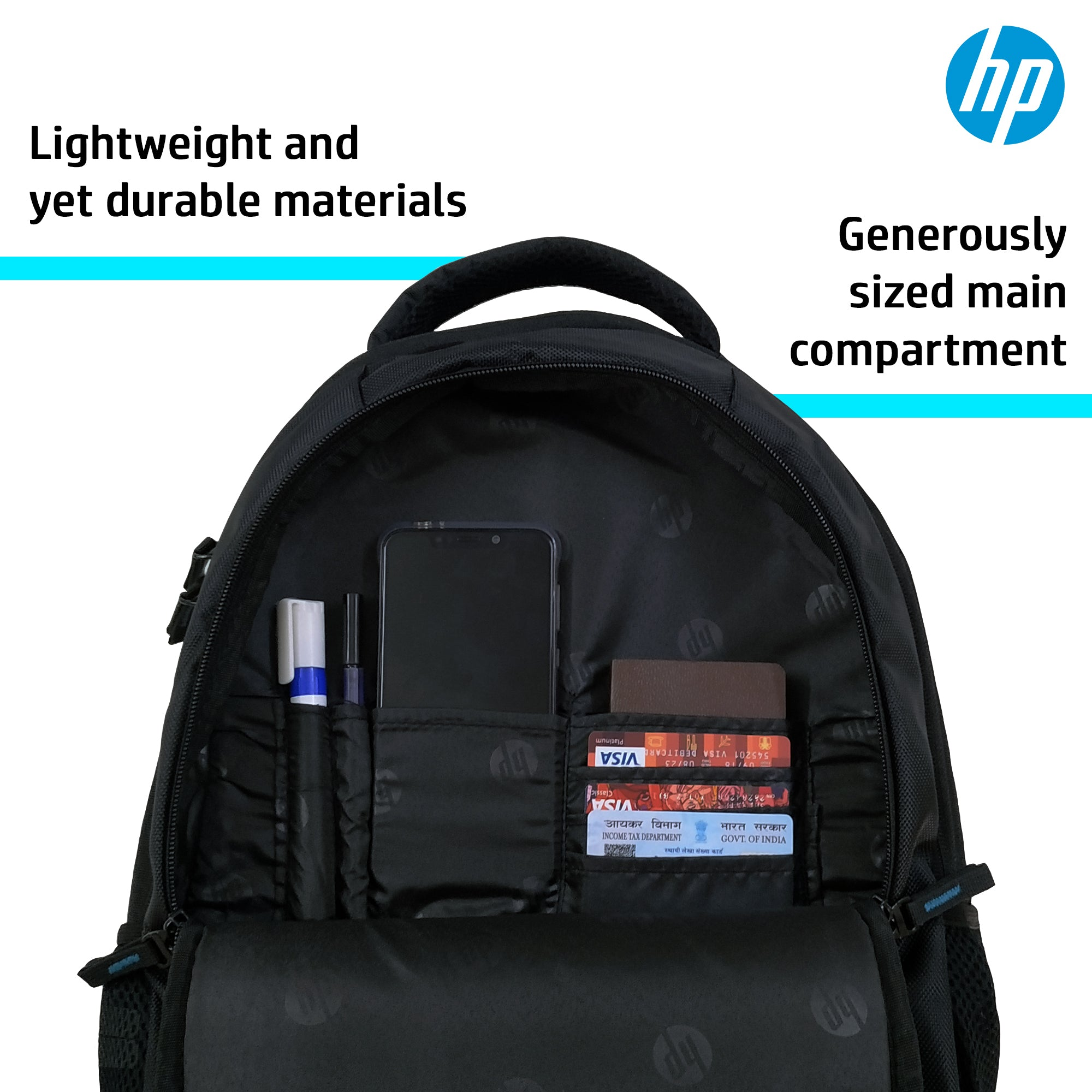 HP Entry Level Backpack for upto 15.6 Inch Laptops (F6Q97PA))