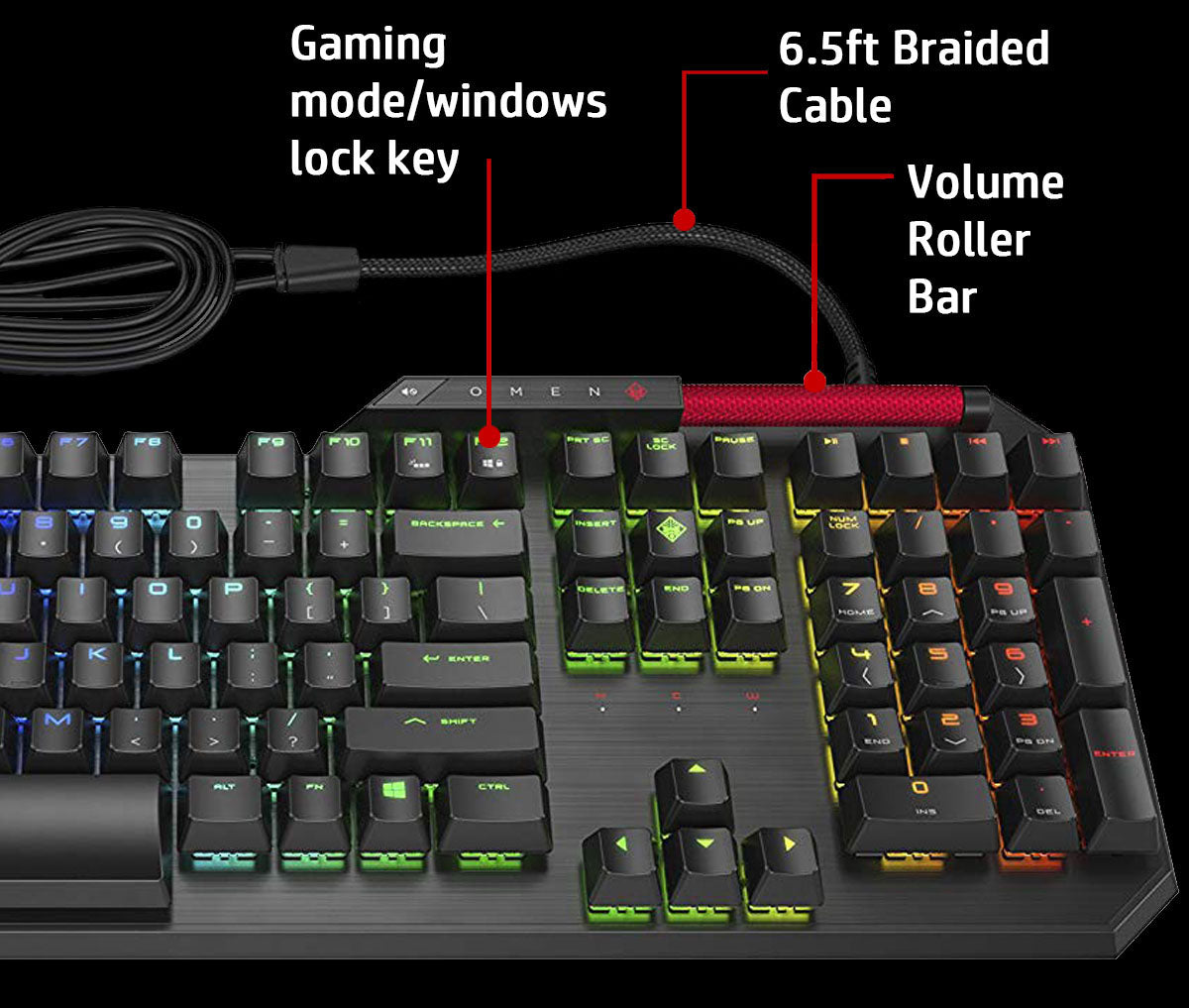 HP OMEN Gaming Combo - Sequencer Keyboard, X9000 Mouse and