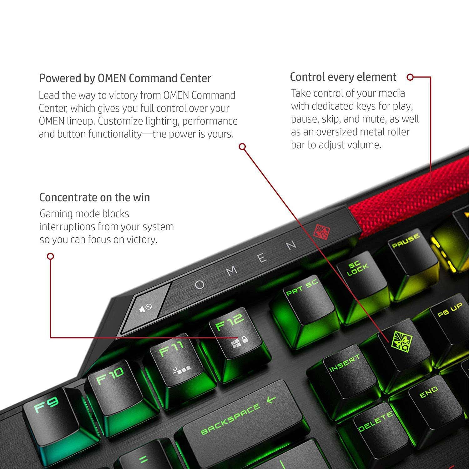 HP OMEN Sequencer Mechanical Optical Gaming Keyboard