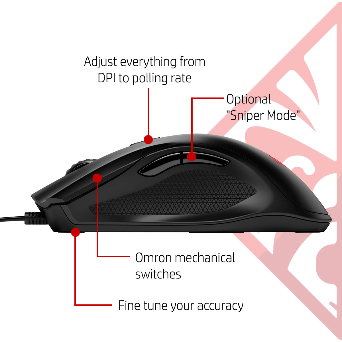 HP OMEN 400 Gaming Mouse   TPS - The Peripheral Store
