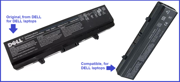 Laptop Battery for Dell 1525 - Original vs Compatible