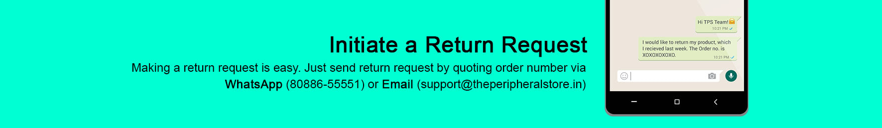 Easy return and refund