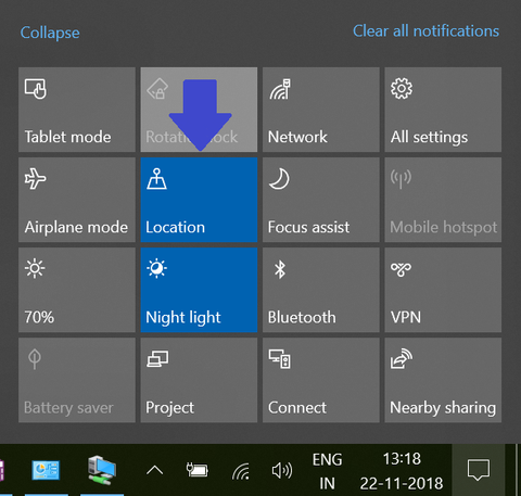 Windows 10 Location Services settings - TPS Tech Blog on Laptop Battery Health Tips