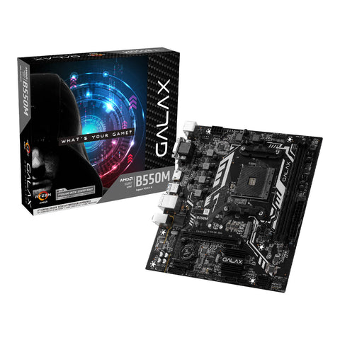 Galax B550M AMD AM4 M-ATX Motherboard with PCIe 4.0 M.2 HDMI and USB 3.1