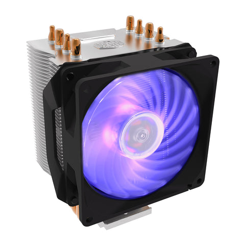 Cooler Master Hyper H410R RGB CPU Cooler with 92mm PWM Fan and LED Controller