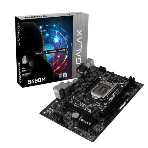 Galax B460M LGA1200 M-ATX Motherboard with PCIe 3.0 M.2 HDMI and USB 3.1