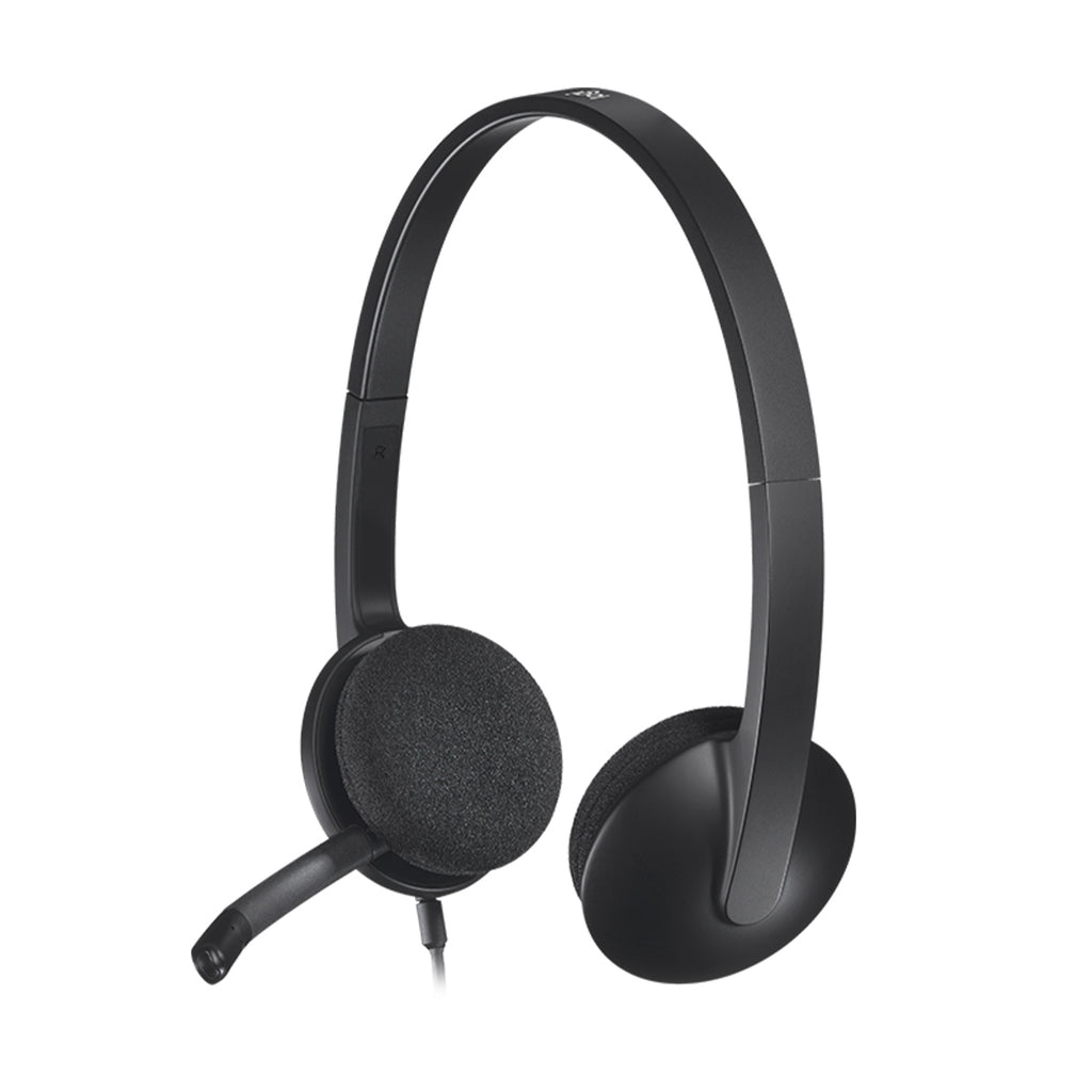 Logitech H340 USB Wired Headphone with Noise Cancelling and Rotatable Mic