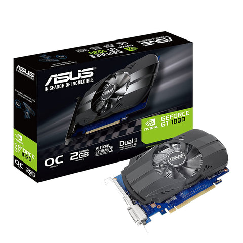 ASUS Phoenix GeForce GT1030 2GB GDDR5 64-Bit OC Edition Graphics Card with IP5X Dust Resistance