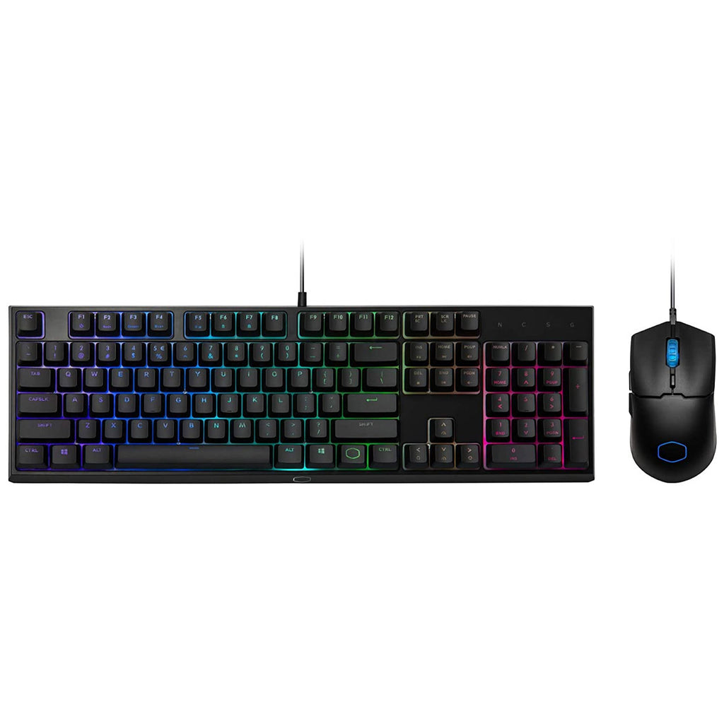 Cooler Master MS110 RGB Gaming Combo with Mem-chanical Keyboard and Mouse with PixArt 5050 Sensor