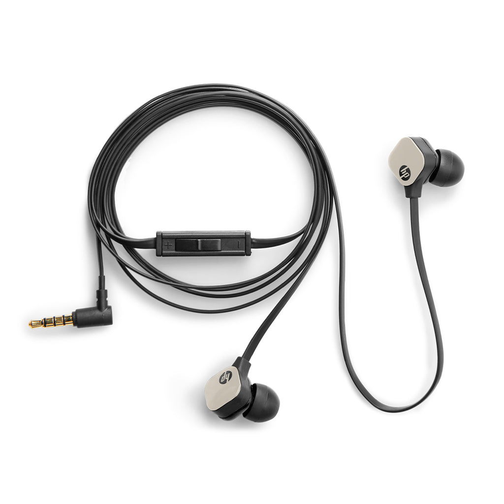 HP In-Ear Stereo Headset with Mic and Dedicated Media Control Buttons