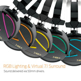 GAMDIAS Hebe M1 RGB 7.1 Virtual Surround Sound Gaming Headset with Unidirectional Microphone