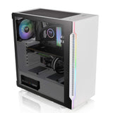 Thermaltake H200 ATX Mid Tower RGB Cabinet with Tempered Glass and 120mm Pre-Installed Fan