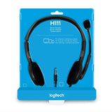 Logitech H111 Wired Stereo 3.5mm Headset with 180° Rotating Microphone