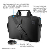 HP 15.6-inch Laptop Briefcase and Wireless Mouse Combo (Black)